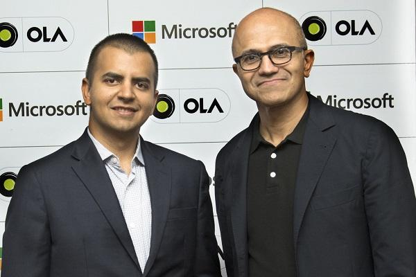 Ola partners with Microsoft to build connected vehicle platform
