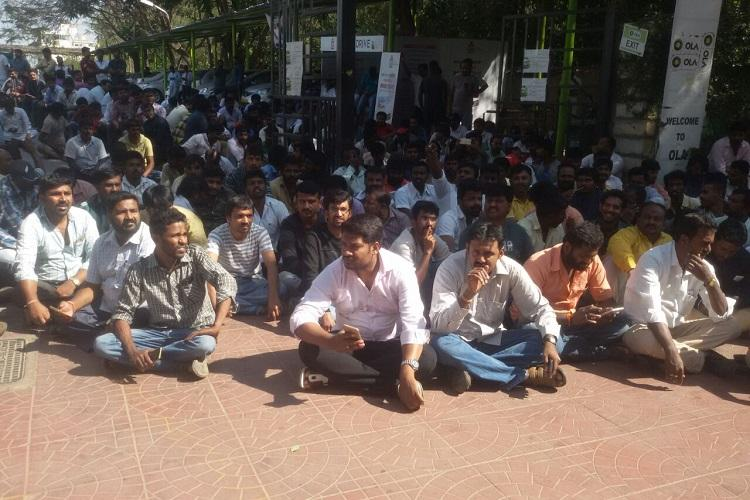 Bengaluru driver attempts suicide outside Ola office during protest