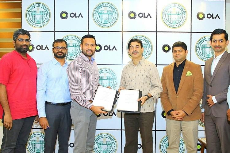 Ola signs MoU with Telangana govt to implement smart traffic solutions in Hyderabad