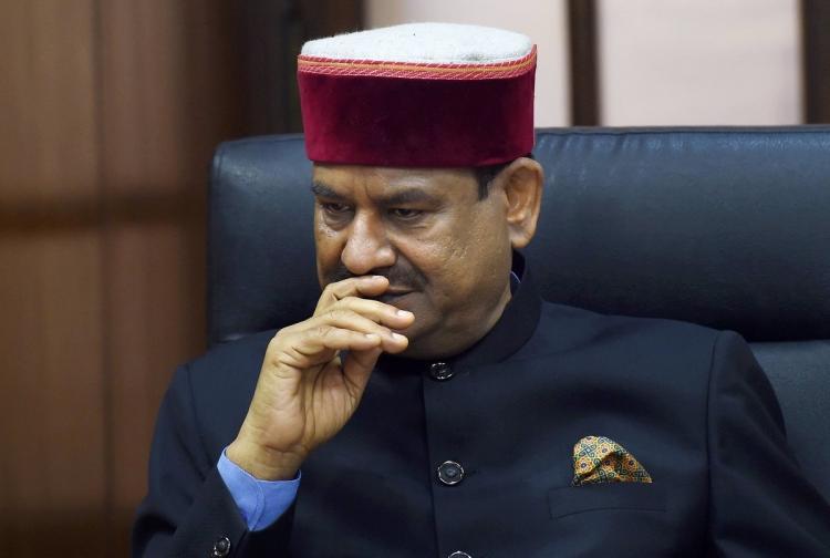 Lok Sabha speaker Om Birla looking serious