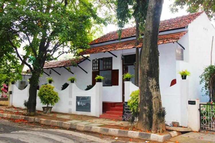 The entrance to Dyu Art Cafe Koramangala Bengaluru