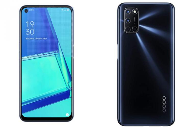 smartphone kept standing front and back views