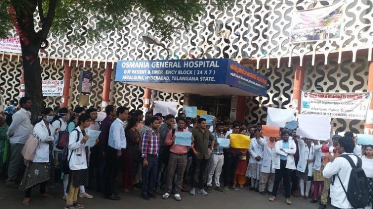 Stop traditional healers from practising in Hyderabad Junior doctors protest