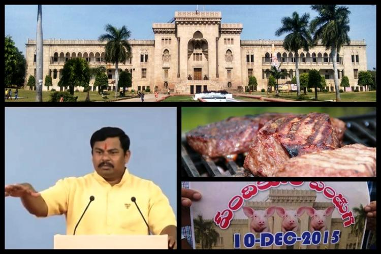 Hyderabads OU turns into police fortress ahead of beef fest PETA writes to VC