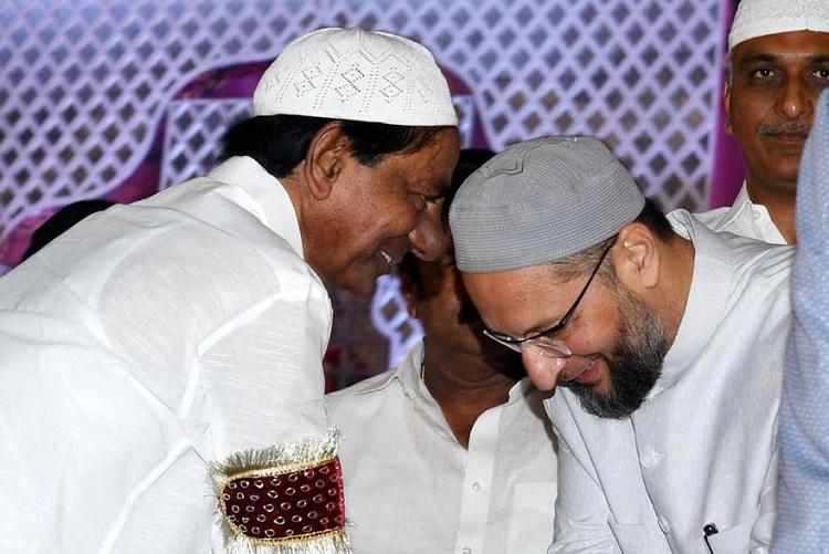 A lesson from KCR How to be friends with AIMIM and BJP at the same time