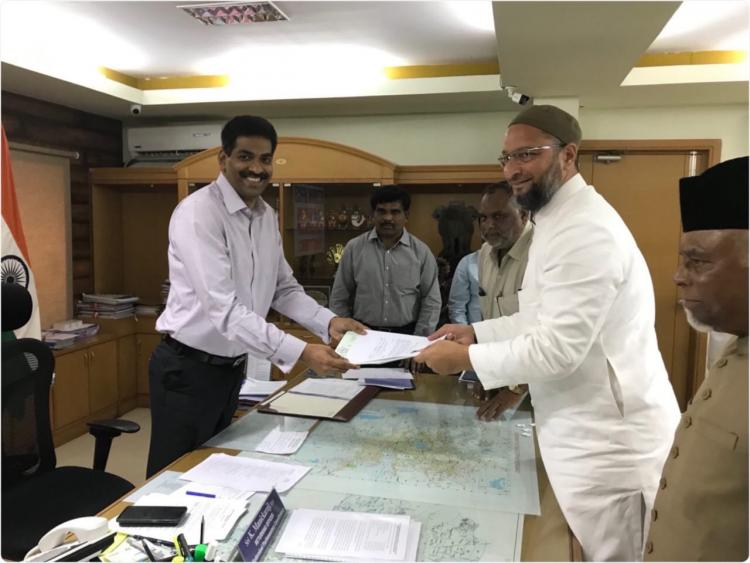 AIMIM chief Asaduddin Owaisi files nomination for Hyderabad MP seat
