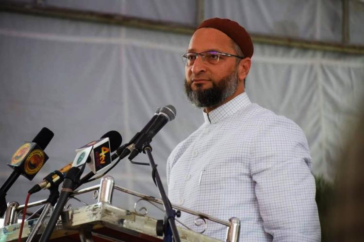 File photo of Asaduddin Owaisi speaking at an event in Hyderabad