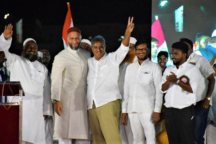 Pass anti-CAA resolution in AP Assembly Owaisi urges CM Jagan at Vijayawada protest