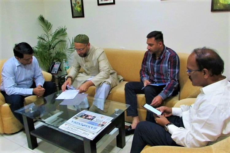 Build bridges across River Musi for hawkers displaced from Charminar Hyd MP Owaisi