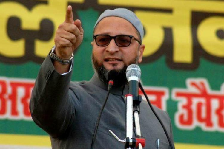 Indias my fathers country nobody can force me to flee Owaisi hits back at Adityanath