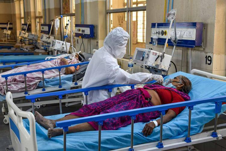 Covid patient in hospital
