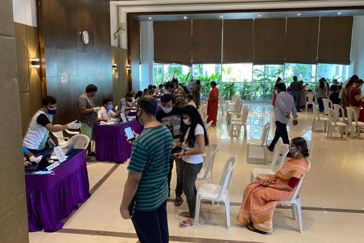Vaccination drive at PBEL City gated community in Hyderabad