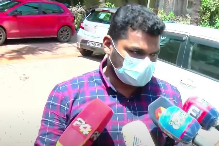 Kerala Muslim Students' Federation Leader PK Navas speaking to media