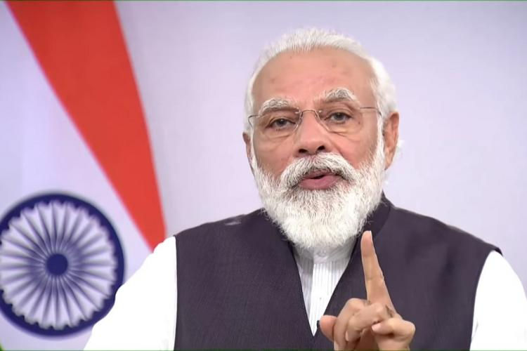 PM Modi speaking at Global India week invited investors to invest in agriculture defence etc