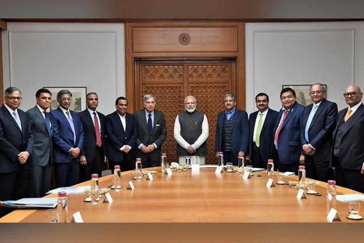 PM Modi meets Indias top business leaders to discuss reviving economy biz sentiment