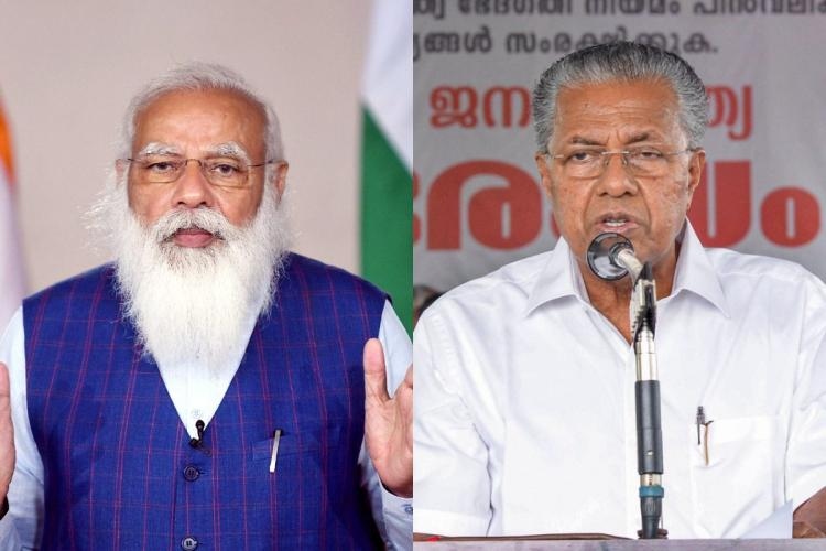 A collage of Prime Minister Modi and Kerala Chief Minister Pinarayi Vijayan