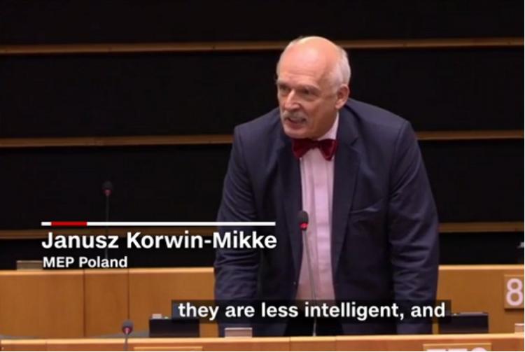 Women are weaker smaller less intelligent Polish politicians sexist rant in EU Parliament