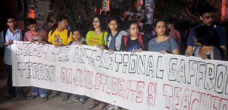 Pro-Afzal Guru slogans raised in Jadavpur University rally