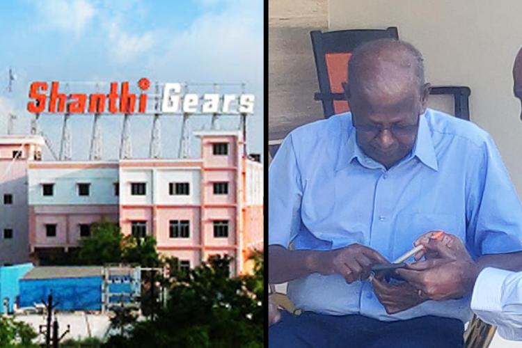 Shanthi Gears unit in Coimbatore and its founder P Subramanian