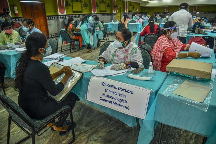 Doctors being recruited during the Covid19 pandemic in Andhra Pradesh
