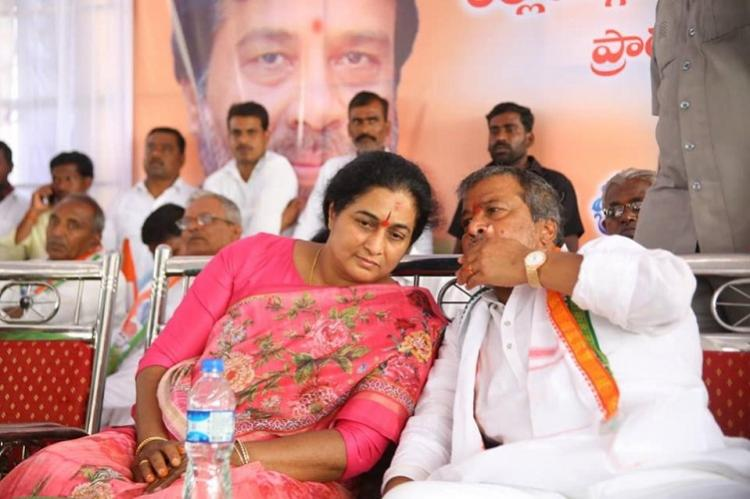 Ex-dy CMs wife Padmini Reddy joins Telangana BJP returns to Congress within hours