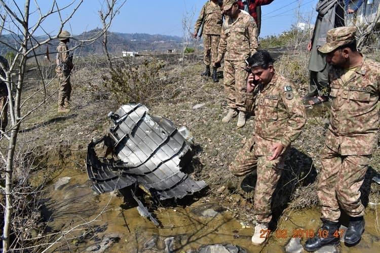 Did Pak count its own F-16 jet as one of IAF Pic of PAFs shot down jet surfaces