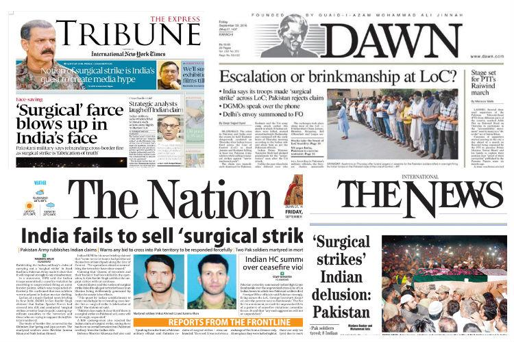 How Pakistani dailies reported Indias surgical strikes in PoK call it farcical