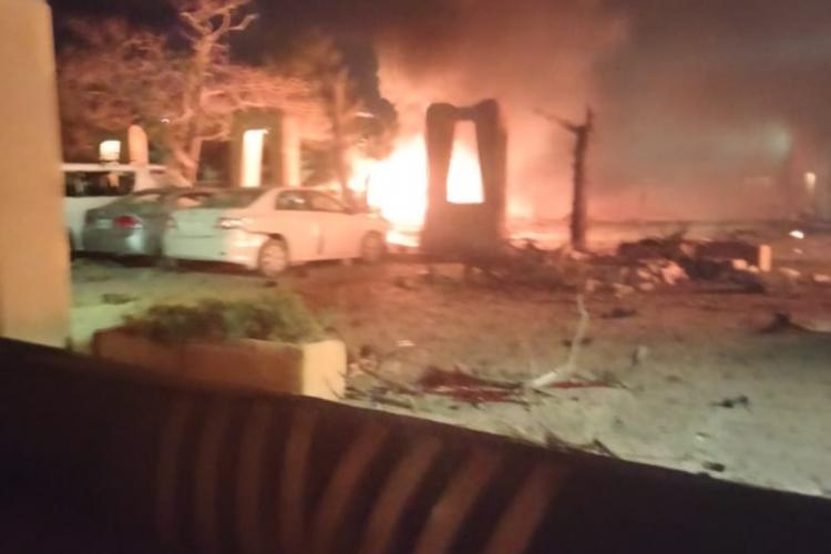 The crime scene at Quetta
