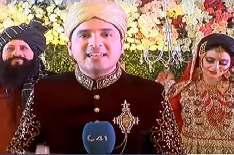 Reporter of the year Pakistani journalist covers his own wedding interviews wife
