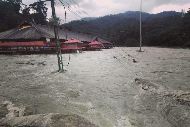 Sabarimala cordoned off as Pamba river overflows due to opening of dams