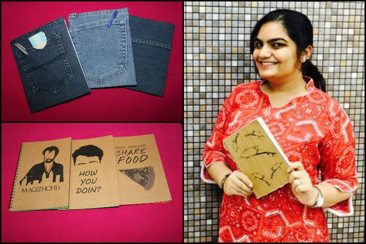 Dont know what to do with old jeans This Chennai girl will make you a notebook out of it