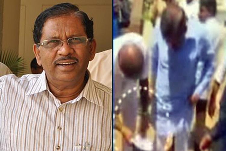 Arrogance on tape Bodyguard cleans Ktaka Deputy CMs clothes shoes in public