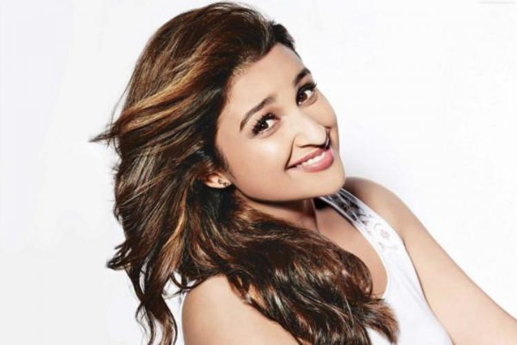 Parineeti Chopra smiling to the camera