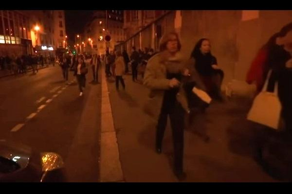 Video The terrifying moment when a false alarm panicked crowds in Paris