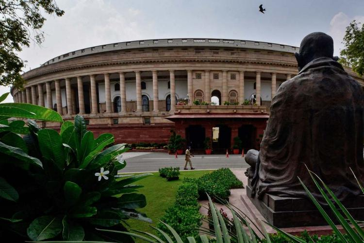 Parliament House ahead of its monsoon session during Unlock 4