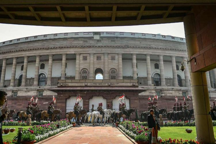 FIle image of a view of the Parliament building in New Delhi, before the Session starts