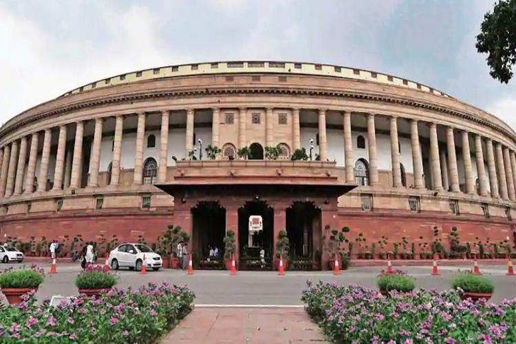 Indian Parliament building in New Delhi