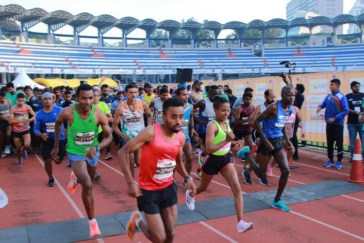 Bengaluru Marathon Ethiopias Mikiyas Yemata Indias Aneeta Chaudhary win