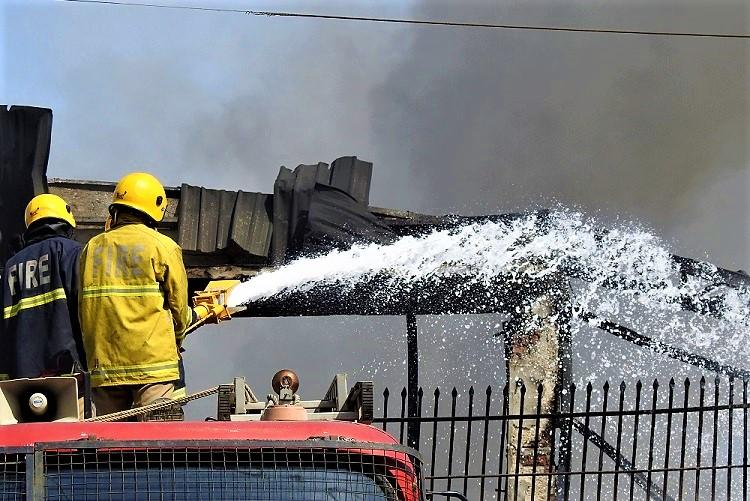 The flames were as high as a building Ground report from Hyd rubber factory fire