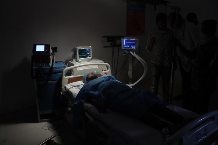 COVID-19 ICU bed