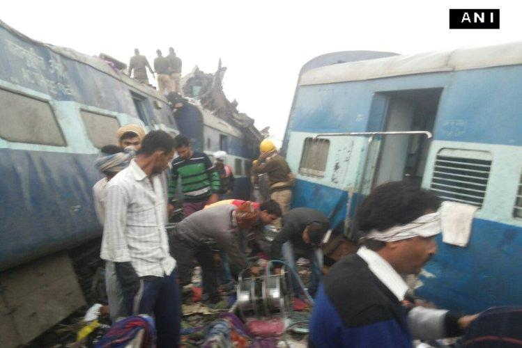 Over 100 dead after 14 coaches of the Patna-Indore Express derail