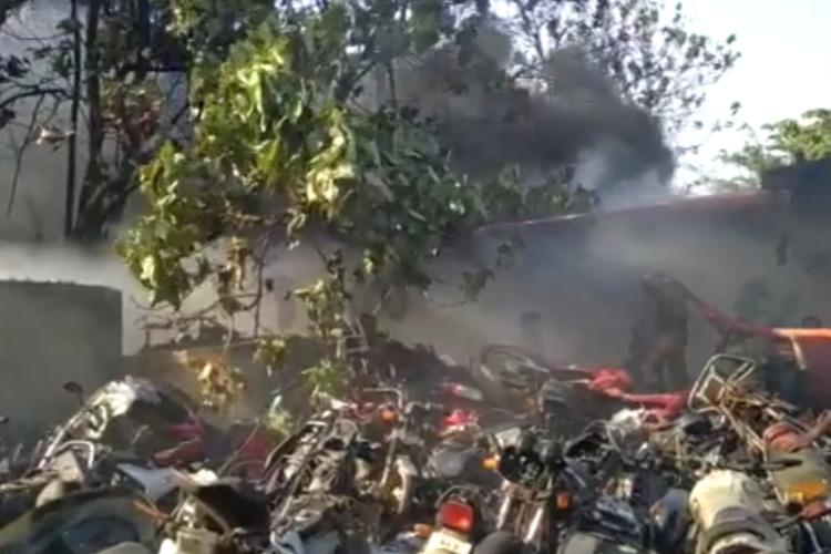Pattalam market for auto spare parts in Thrissur catches fire no casualties reported