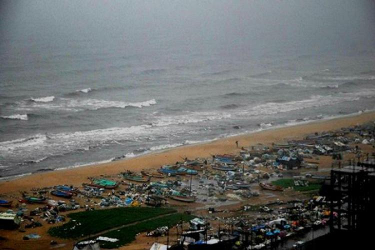 Aerial view of Pattinampakkam beach
