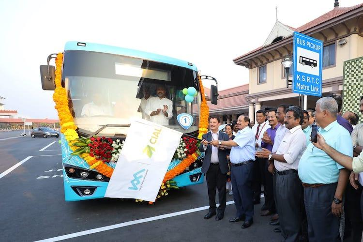 New link bus connecting Kochi airport to metro begins operations