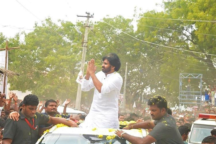 Pawan Kalyan leads protest over drought in Andhras Rayalaseema region