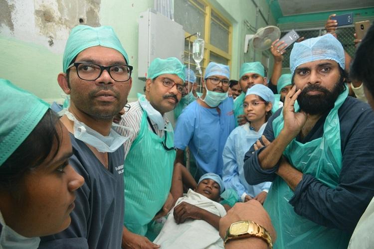 Kurnool quarry blast Pawan Kalyan visits victims attacks Andhra CM Naidu