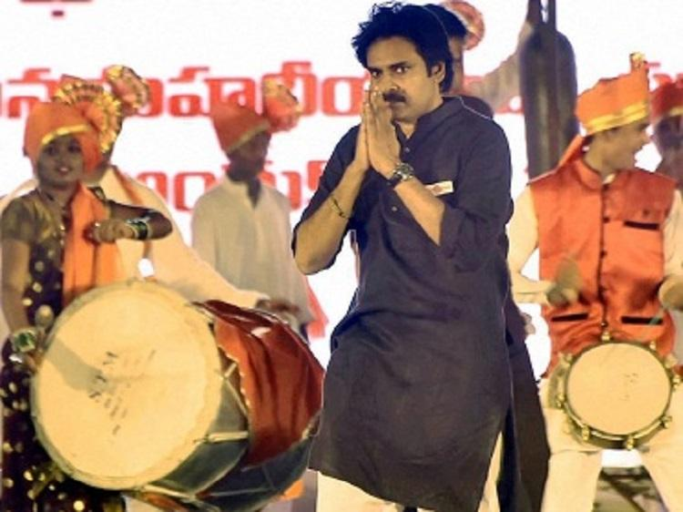 Jana Sena Foundation Day rally Pawan lays claim to CM seat plays social justice card