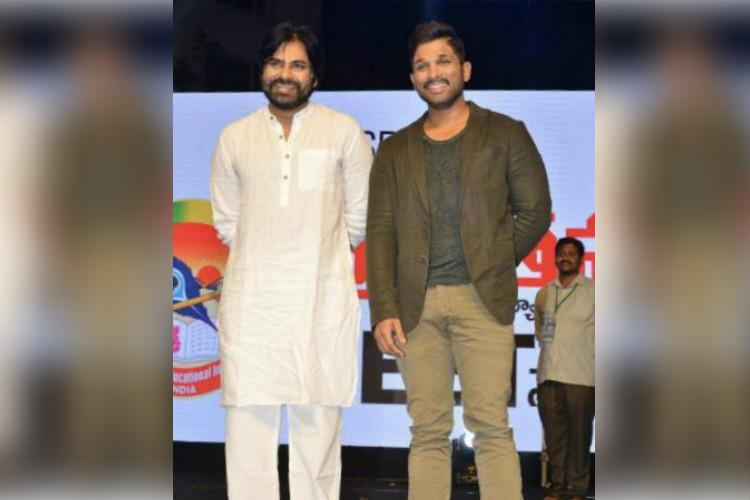 Pawan Kalyan and Allu Arjun appear together in public fans excited