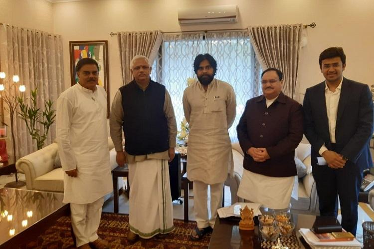Pawan Kalyan meets Nadda in New Delhi sparks speculation of BJP-Jana Sena alliance