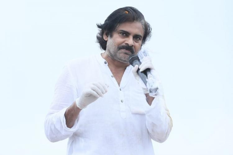 File photo of Pawan Kalyan addressing a rally